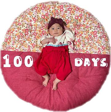 お祝いで頂いたので100日記念に撮影しました〜♡袴ロンパースとの相性ピッタリです♡