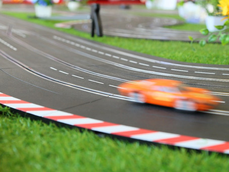 Giant Scalextric drops!