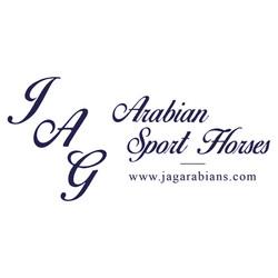 JAG Arabian Sport Horses logo with websi