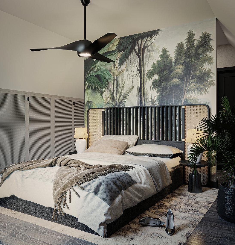 Łóżko w stylu boho