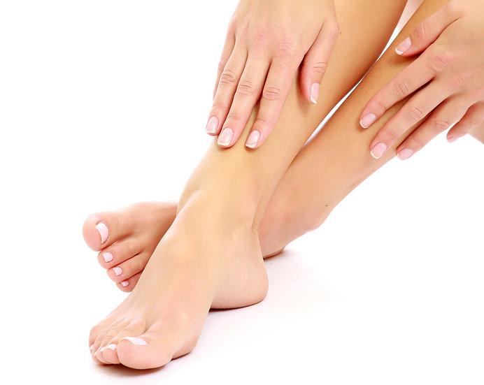 Gommage et massage des pieds