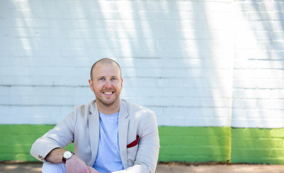 relaxed, outdoor corporate head shot
