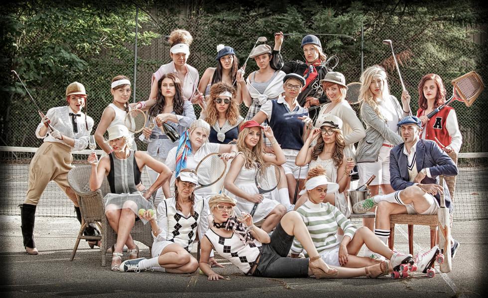 Basin Haircutters themed staff photo
