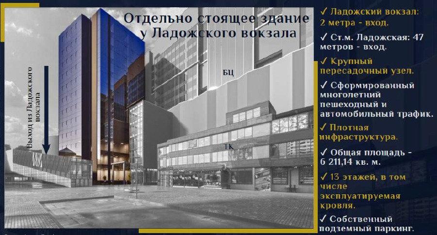 Отдельностоящее здание у Ладожского вокзала
