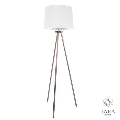 Ellie tripod floor lamp satin silver 155cm