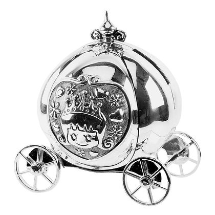 Bambino Silver Plated Fairytale Carriage Money Box