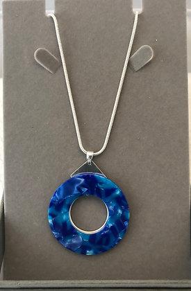 80cm Necklace Blue circle