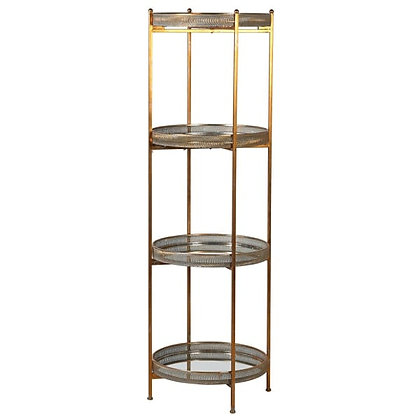 Mtl/mirror 4 Tier Shelves