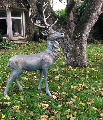Bronze effect Standing Stag