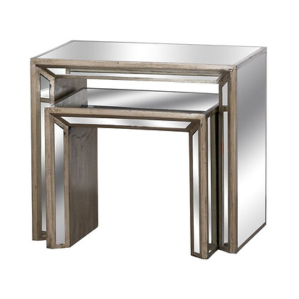 AUGUSTUS SET OF 2 MIRRORED TABLES 69X41X61CM (L