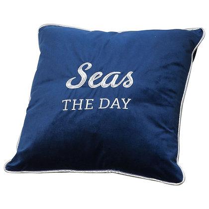 Seas The Day Velvet Cushion