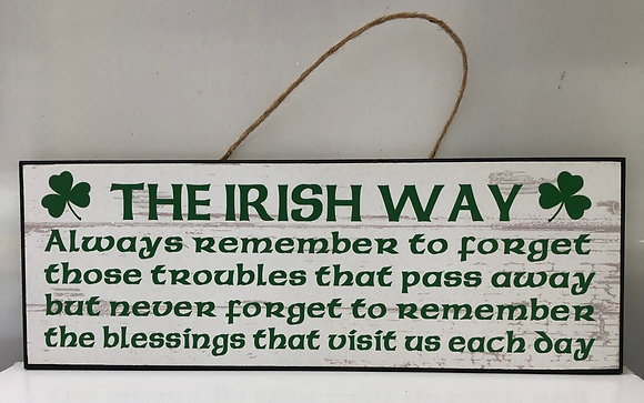 Irish Proverb   The Irish Way