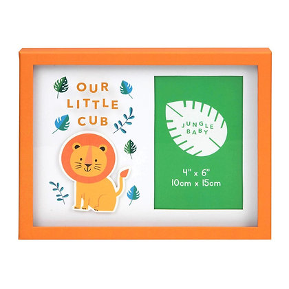 """4"""" x 6"""" - Jungle Baby London the Lion Frame - Our Little Cub"""