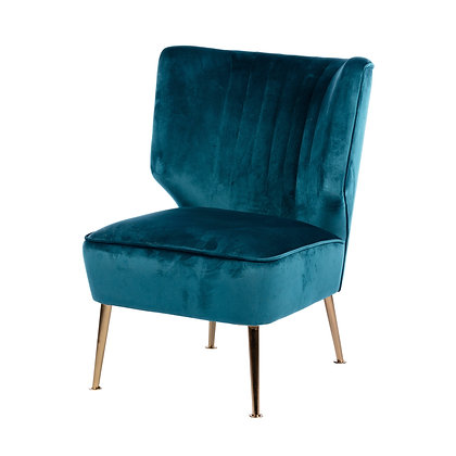 Accent Chair Teal Velvet