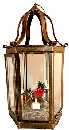 Bronze Lantern w 3 T-lite stands