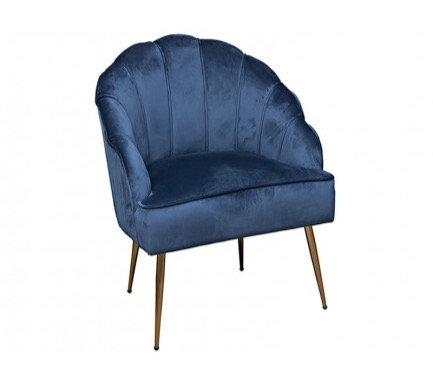 Shell Arm Chair (Sapphire Blue)