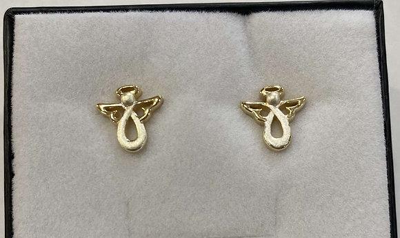 Two Tone Angel Earrings