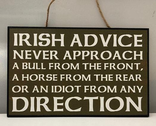 Irish saying     plaque