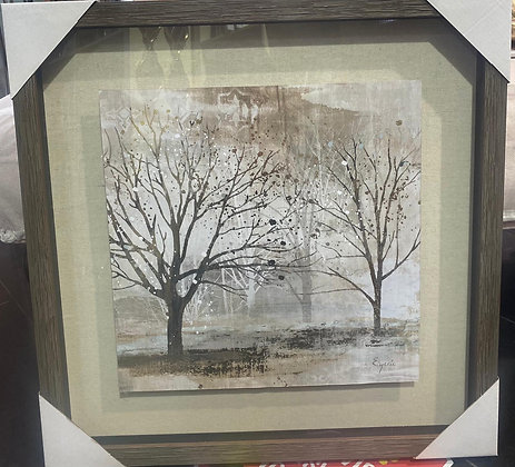 Framed Trees With Gold Leaf