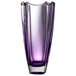 "Galway Crystal Amethyst Dune 12"" Square Vase"