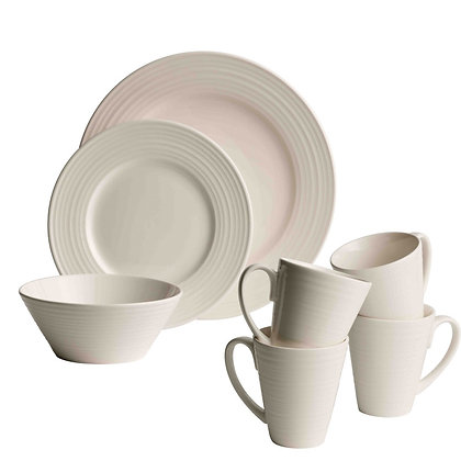 BELLEEK LIVING RIPPLE 16 PIECE DINING SET