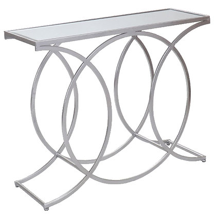 SILVER CIRCLE CONSOLE TABLE 100x32x80cm