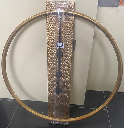Bronze Hammered Metal Round Wall Clock