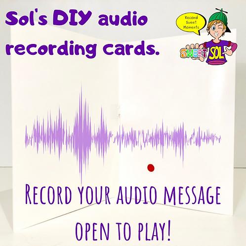 DIY Recordable (audio) Greeting Card