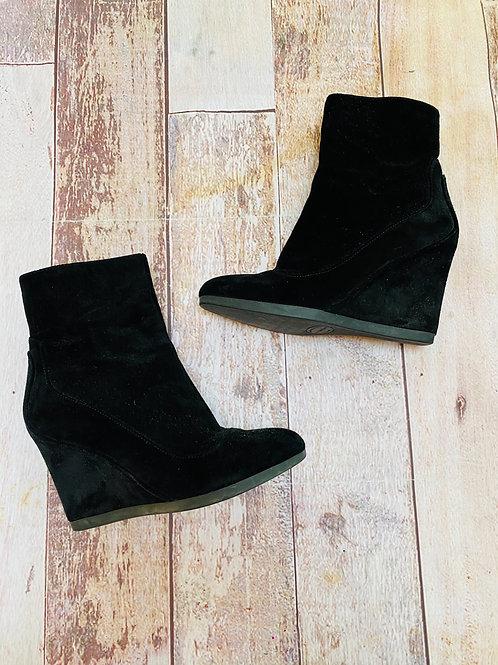 Via Spiga leather suede wedge heel booties 6.5