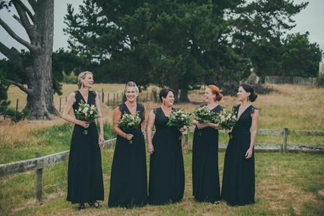 Bridesmaids Wedding Hair and Makeup. Martinborough