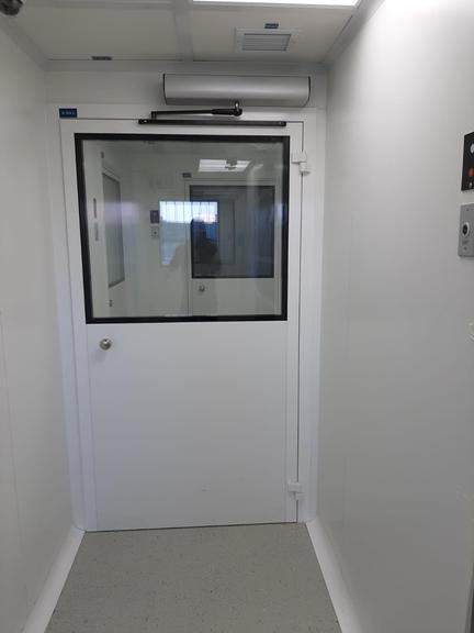 דלת הזזה חדר נקי רמת iso8