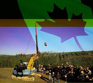 Téléphérique Sky-Log le débardage par câble forestier