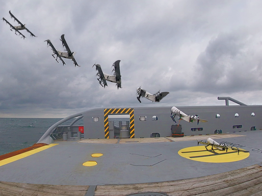 A maritime hydrogen-powered VTOL drone: lots of innovation in one!