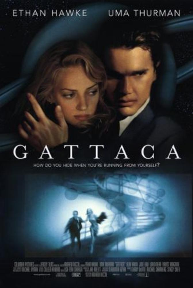Gattaca (1997) - an Andrew Niccol movie starring Ethan Hawke, Uma Thurman and Jude Law
