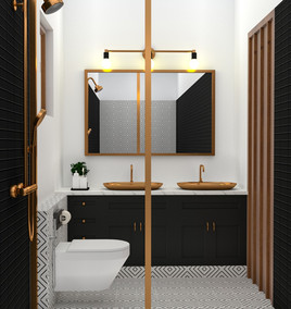 Copper Crest Guest Bathroom