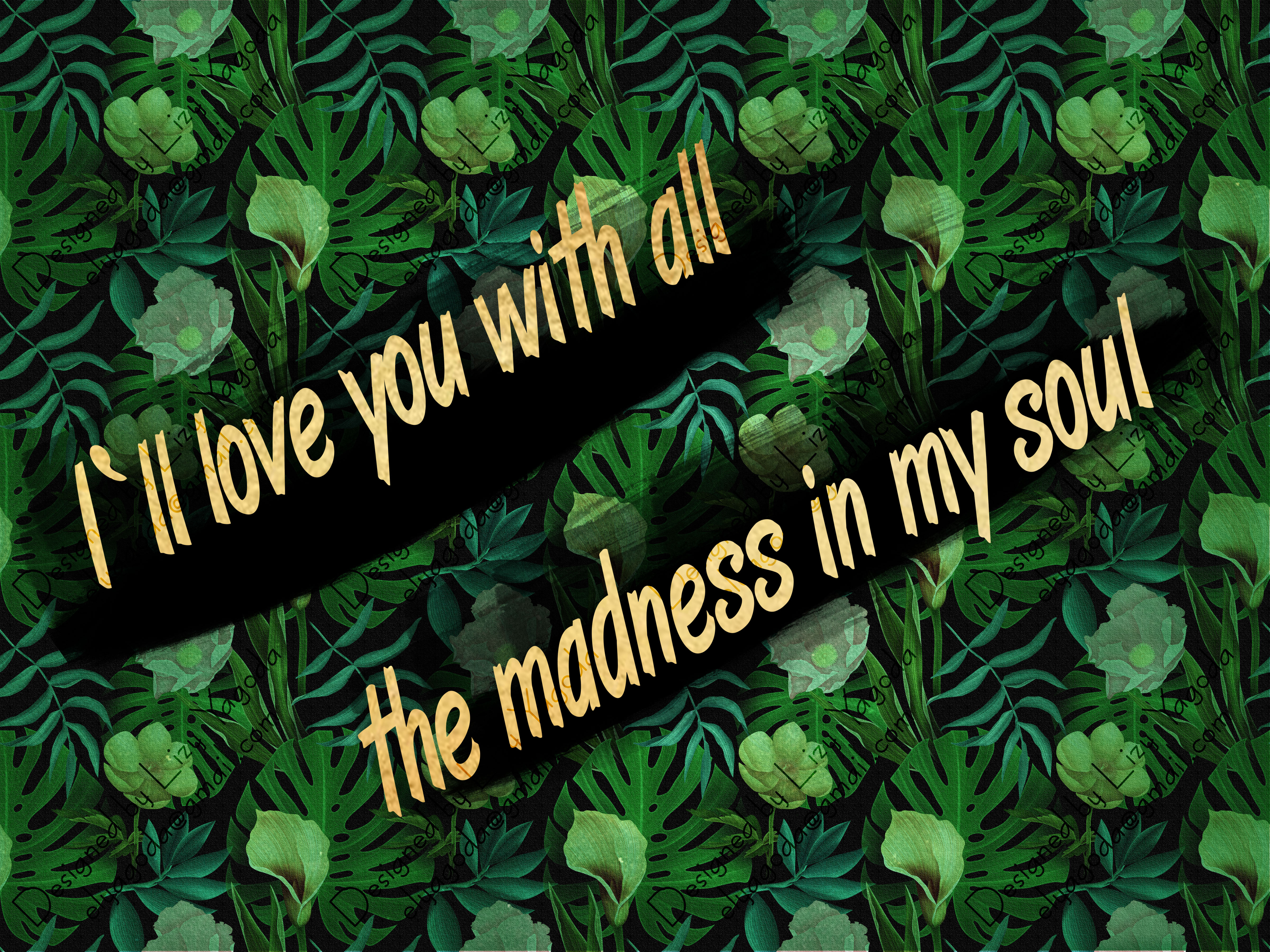 I'll love you with all the madness in my soul