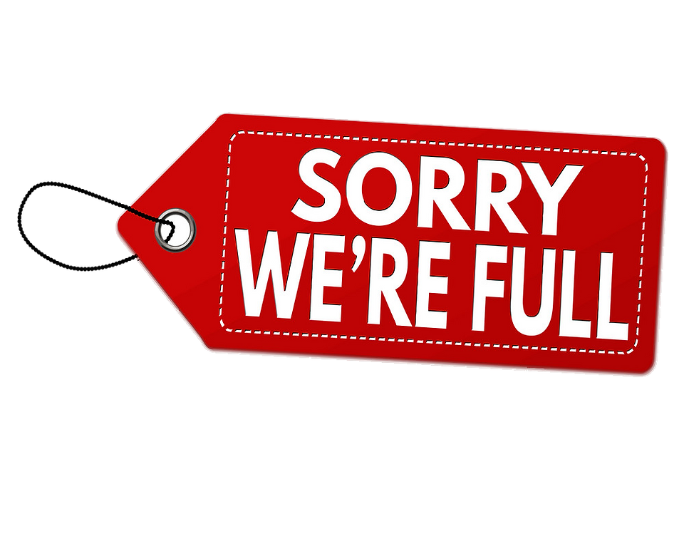 sorry-were-full-label-or-price-tag-vecto