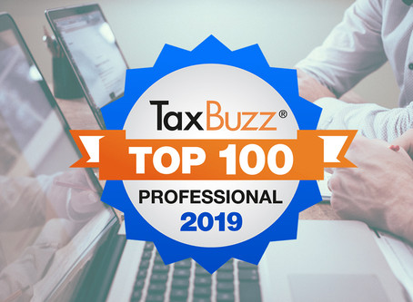 E.P. Tremblay makes the TaxBuzz Top 100 Tax Professionals for 2019.