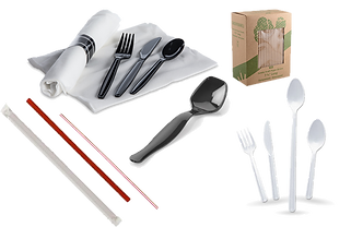 Disposable Plastic and Paper Cutlery, St