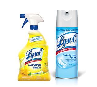 Lysol Spray and Cleaning Products