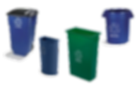 COMMERCIAL RECYCLING WASTE BINS AND CONT