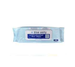 BLUE Unity AW50CT-X 75% Alcohol Wet Wipes