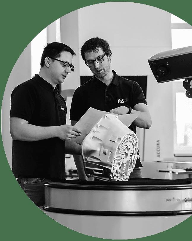 optische Messtechnik bei IBS Quality, Streifenlichtprojektion, Erstbemusterung, reverse engineering