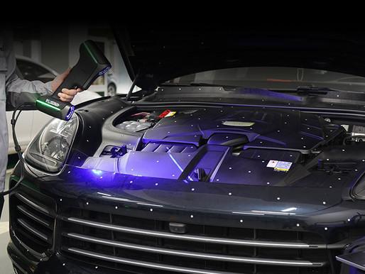 3D Scanner für die Qualitätskontrolle von Fahrzeugkomponenten