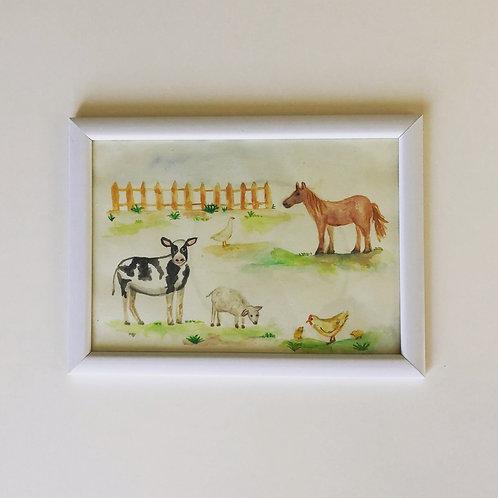 ציור לחדר ילדים-חווה