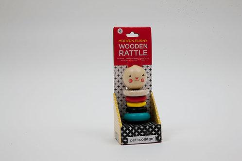 צעצוע התפתחות לתינוק רעשן עץ