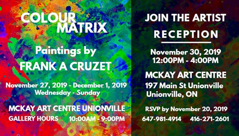 Frank A Cruzet Colour Matrix Art Show In