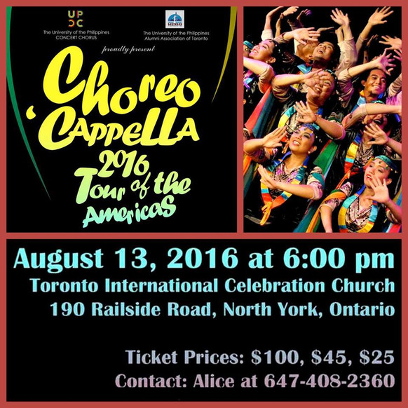 A Month to go before the Choreo Cappella 2016