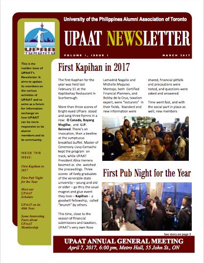Get Your First Quarter 2017 Newsletter