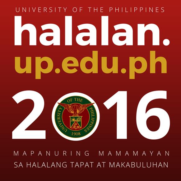 UP sa Halalan 2016 Website